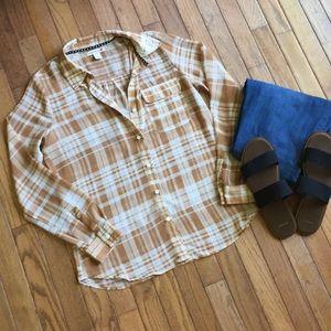 Sheer Flannel Top